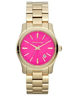 Michael Kors Womens Runway Gold Tone Stainless Steel Bracelet Watch 38mm MK5801   Watches   Jewelry & Watches