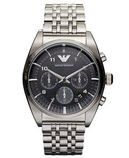 Emporio Armani Watch, Chronograph Stainless Steel Bracelet 43mm AR0373   Watches   Jewelry & Watches
