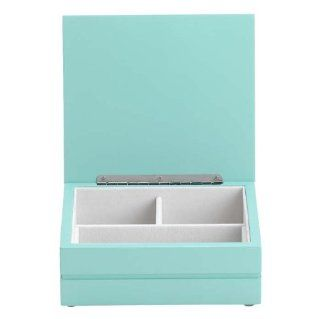 Small Wonder Alice Girls Jewelry Boxes in Teal/Pearl White   Jewelry Armoire