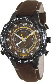 Timex Men's Intelligent Quartz T2P141 Brown Leather Analog Quartz Watch with Brown Dial Timex Watches
