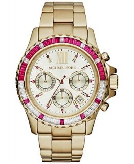 Michael Kors Womens Chronograph Everest Gold Tone Stainless Steel Bracelet Watch 42mm MK5871   Watches   Jewelry & Watches