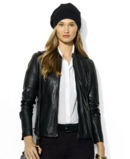 Lauren Ralph Lauren Quilted Leather Motorcycle Jacket   Jackets & Blazers   Women
