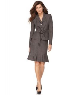 Anne Klein Suit, Belted Tweed Jacket & Pleated Skirt   Suits & Suit Separates   Women