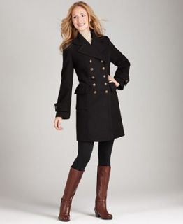 Style&co. Coat, Double Breasted Long Pea Coat   Coats   Women