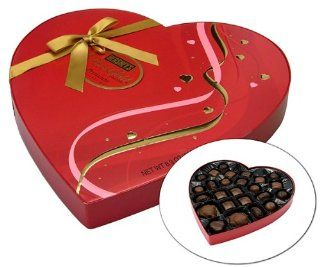Pot of Gold Valentines HERSHEY'S POT OF GOLD Premium Collection Red Ribbon Heart Box, 8.9 Ounce  Chocolate Assortments And Samplers  Grocery & Gourmet Food
