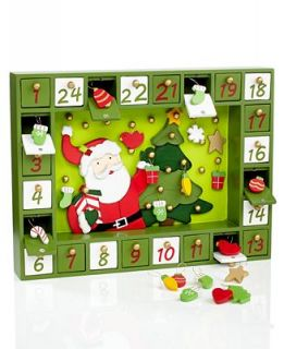 Kurt Adler Wood Santa Advent Calendar   Holiday Lane