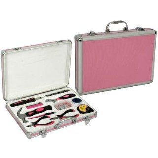 "128 piece Pink Hardware Tool Set for Women in a Pink Aluminum Tool Box Briefcase (13""x15""x3"")   Multitools"