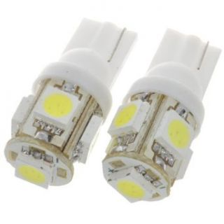 T10 1.2w 6500k 70 lumen 5 smd Led Car White Light Bulbs (Pair/dc 12v)   Automotive General Purpose Light Bulbs