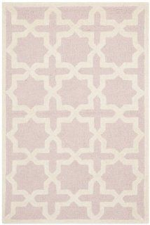 Safavieh CAM125M Cambridge Collection Handmade Wool Area Rug, 3 by 5 Feet, Light Pink/Ivory
