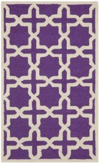Safavieh CAM125K Cambridge Collection Handmade Wool Area Rug, 2 by 3 Feet, Purple/Ivory