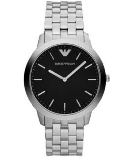 Emporio Armani Watch, Mens Stainless Steel Bracelet 41mm AR1614   Watches   Jewelry & Watches