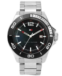 Tommy Hilfiger Mens Silver Tone Bracelet Watch 45mm 1790922   Watches   Jewelry & Watches
