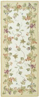 Safavieh Chelsea Collection HK116A Hand hooked Ivory Wool Area Rug, 3 Feet by 8 Feet