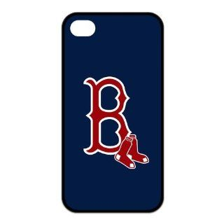 MLB Boston Red Sox BOS Custom Design TPU Case Protective Skin For Iphone 4 4s iphone4s NY114 Cell Phones & Accessories