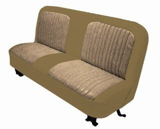 Acme U107 014M Front Palomino Vinyl Bench Seat Upholstery with Sandstone Regal Velour Pleated Inserts Automotive