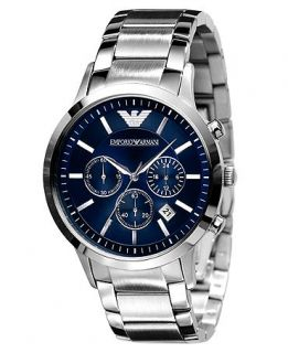 Emporio Armani Watch, Mens Stainless Steel Bracelet AR2448   Watches   Jewelry & Watches