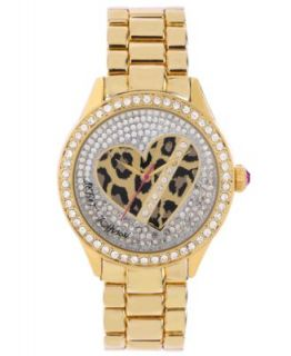Betsey Johnson Womens Leopard Printed Patent Leather Strap Watch 39x36mm BJ00253 03   Watches   Jewelry & Watches