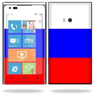 Protective Vinyl Skin Decal Cover for Nokia Lumia 900 4G Windows Phone AT&T Cell Phone Sticker Skins Russian Flag Cell Phones & Accessories