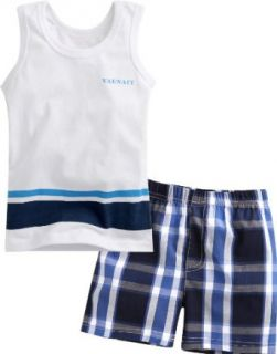 Vaenait Baby Kids Boys 2 Pieces Sleeveless Top and Shorts Outfits Set Simple Clothing