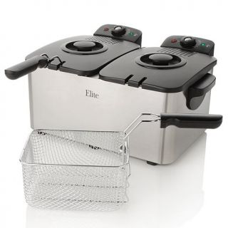 Elite Stainless Steel Dual Basket Deep Fryer