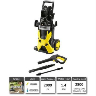 Karcher K5.740 X Series 2000 PSI Electric Cold Water Residential Grade Pressure Washer, Electric Tools