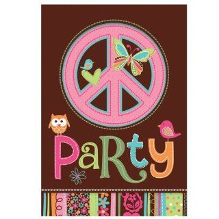 Hippie Chick Invitations (8) Party Invites Owl Girl Birthday Supplies Toys & Games