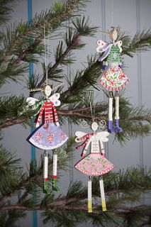 wooden christmas angel tree decoration by the contemporary home
