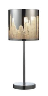 Elk 31036/1 Skyline 1 Light Portable Lamp In Polished Stainless Steel   Table Lamps