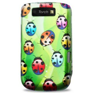 Reiko 2DPC BB9800 137 Premium Durable Designed 2D Protective Cover for BlackBerry Torch 9800   1 Pack   Retail Packaging   Green/Multi Cell Phones & Accessories