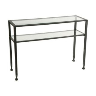 Southern Enterprises Distressed Metal Sofa Table
