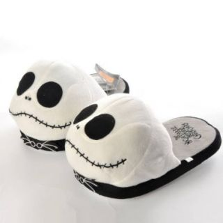 Disney Nightmare Before Christmas Xmas Soft Plush Home Indoor Slippers Warm Shoes White Shoes