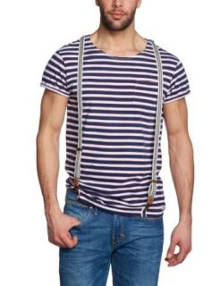 Scotch and Soda Men's Stripe Shirts Suspenders 2 colors at  Men�s Clothing store Fashion T Shirts