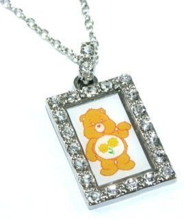 Officially Licensed Friend Bear Care Bear Charm Necklace with Crystals Jewelry