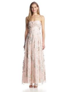 Hailey by Adrianna Papell Women's Strapless Glitter Gown