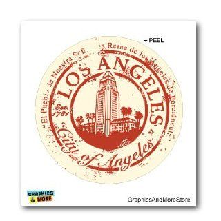 LA Los Angeles CA Travel Stamp Seal   Window Bumper Laptop Sticker Automotive
