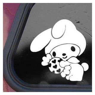 My Melody White Sticker Decal Hello Kitty Wall Laptop Die cut White Sticker Decal Automotive