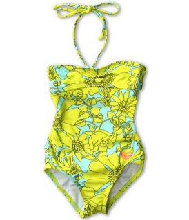 Roxy Kids Shirred Bandeau One Piece Toddler Little Kids