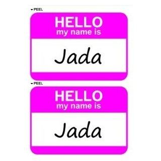 Hello My Name Is Jada   Sheet of 2   Window Bumper Laptop Stickers Automotive