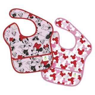 Bumkins Disney Baby Minnie Mouse 2pk Waterproof SuperBib Baby Bib Set   Pink