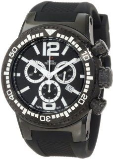 Swiss Precimax Men's SP12035 Titan Elite Black Dial with Black Silicone Band Watch Swiss Precimax Watches