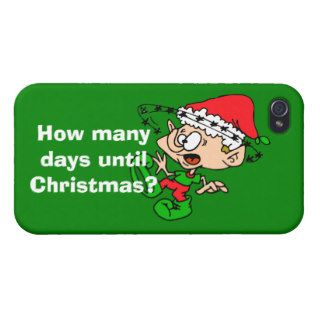 Funny Christmas Elf Holiday Humor Xmas Countdown Covers For iPhone 4