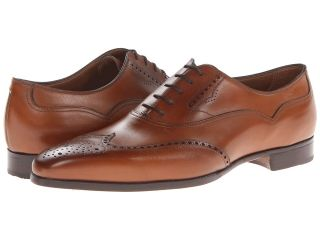 Gravati Wingtip Oxford Mens Lace Up Wing Tip Shoes (Tan)