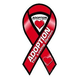 Adoption the Loving Option Awareness 2 in 1 Ribbon Magnet Automotive