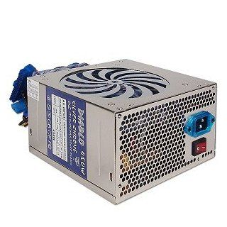 Diablo 450W 20+4 pin Dual Blue LED Fan ATX PSU w/SATA Computers & Accessories
