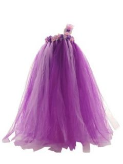 Topwedding Floral One Shoulder Tulle Flower Girl Dress Birthday Party Dress Clothing