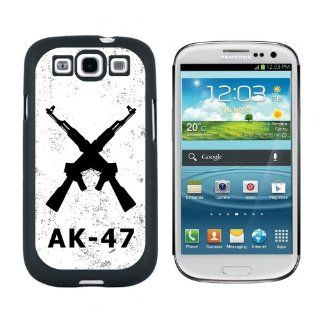 Crossed AK 47 Rifles   Guns   Snap On Hard Protective Case for Samsung Galaxy S3   Black Cell Phones & Accessories