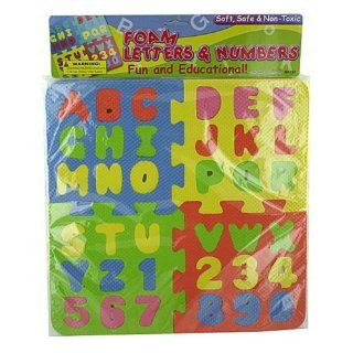 Numbers and Letters Puzzle. Foam Colorful. Toys & Games