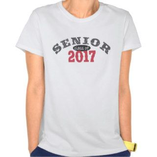 Senior Class of 2017 Red T shirts