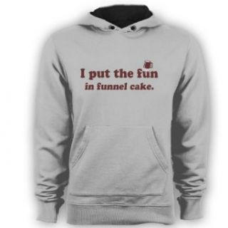 Fun in the Funnel Cake Funny Cooking Food Mens Pullover Hoodie Gray Small Clothing