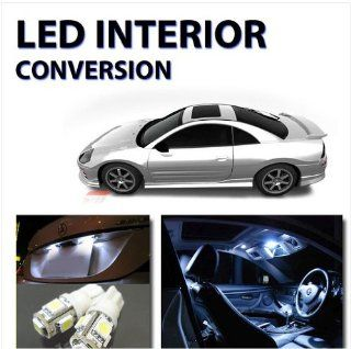 Bright White LED Lights Interior Package 8pc Kit for Mitsubishi Eclipse 2000 05 Automotive